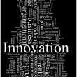 Innovation word cloud illustration - Stok Vektör