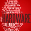 Hardware word cloud illustration - Stock Vector