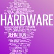 Hardware word cloud illustration — Stock Vector