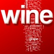 Wine word cloud illustration — Vettoriali Stock