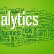 Analytics word cloud illustration - Vettoriali Stock