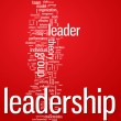 Leadership word cloud illustration - Stock Vector