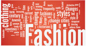 Fashion word cloud — Stock Vector