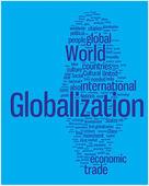Globalization word cloud — Stock Vector