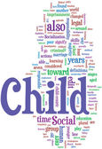 Child word cloud — Stock Vector