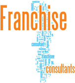 Franchise word cloud — Stock Vector