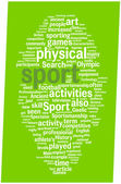 Sport word cloud illustration — Stock Vector