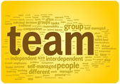 Team word cloud illustration — Stock Vector