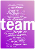 Team word cloud illustration — Stock Vector