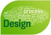 Design word cloud illustration — Stock Vector
