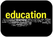 Education word cloud illustration — Stock Vector