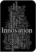 Innovation word cloud illustration — Vettoriale Stock