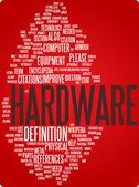 Hardware word cloud illustration — Stock Vector