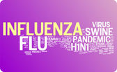Flu word cloud illustration — Stock Vector