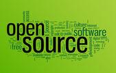 Open source word cloud illustration — Stock Vector