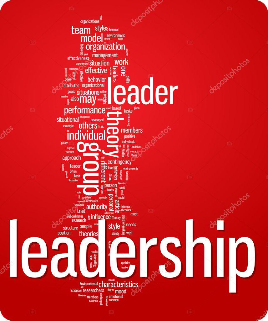 领导词云插图.图形标记集合– 图库插图