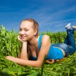 Young Woman in the field — Stock Photo #10287954