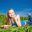 Young Woman in the field — Foto Stock