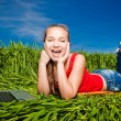 Young Woman in the field — Stock Photo #10288179