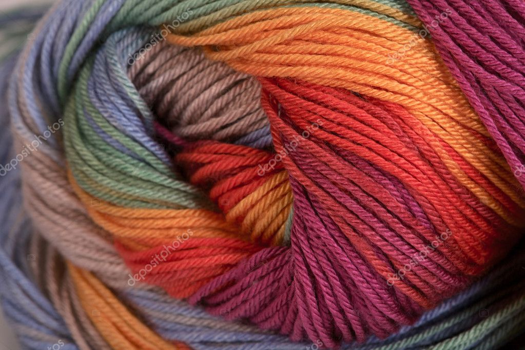 Ball of a color wool yarn for needlework — Foto de Stock   #10119816