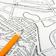 Plan drawing - Stock Photo