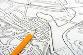 Plan drawing — Stock Photo