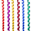 Ribbon decoration spiral set — Stock Photo