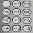 Button of telephone — Stock Photo