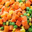 Stock Photo: Mixed frozenned vegetables