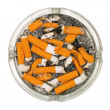 Ashtray full of cigarette butts — Stock fotografie