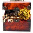 Bow in Treasure chest — Stock Photo #9519138