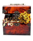 Bow in Treasure chest — Stock Photo