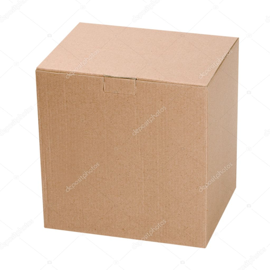 Box isolated on white background — Stock Photo #9974767