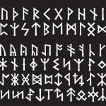 Silver Runic Script — Stock Vector