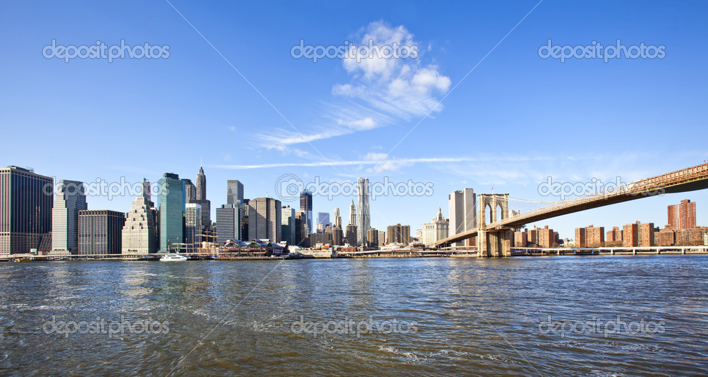 Manhattan skyline — Stock Photo #8952169