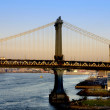 Manhattan bridge at sunset — Stock Photo