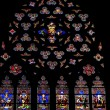 Stained glass windows. St.Patrick's Cathedral in New York. — Stockfoto #9225873
