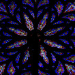 Stained glass windows. St.Patrick's Cathedral in New York  Stain - Stock Photo