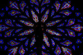 Stained glass windows. St.Patrick's Cathedral in New York Stain — Stock Photo