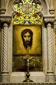 圣帕特里克大教堂。维罗妮卡的面纱的马赛克。纽约. — 图库照片