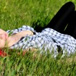Dreaming in grass - Stock Photo