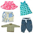 Stock Photo: Baby girl's clothes