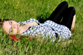 Dreaming in grass — Stock Photo