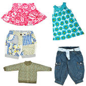 Baby girl's clothes — Stock Photo