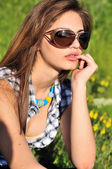 Sunglasses girl — Stock Photo