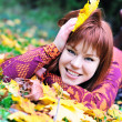 Redheaded autumn — Stock Photo #9081226