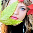Stock Photo: Autumn face