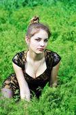 Zelená náladu — Stock fotografie
