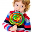 Portrait of girl with lollipop — Stock Photo