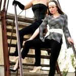 Two fashion girls — Stock Photo